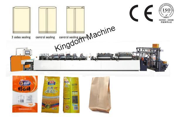 Máquina bolseadora para fabricar sello de centra aletas