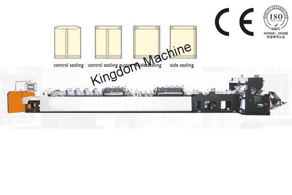 Máquina bolseadora para fabricar bolsas de 4 Sellos